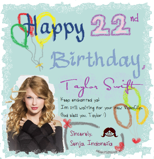 happy nd birthday, taylor  rhythm of senja's, Birthday card
